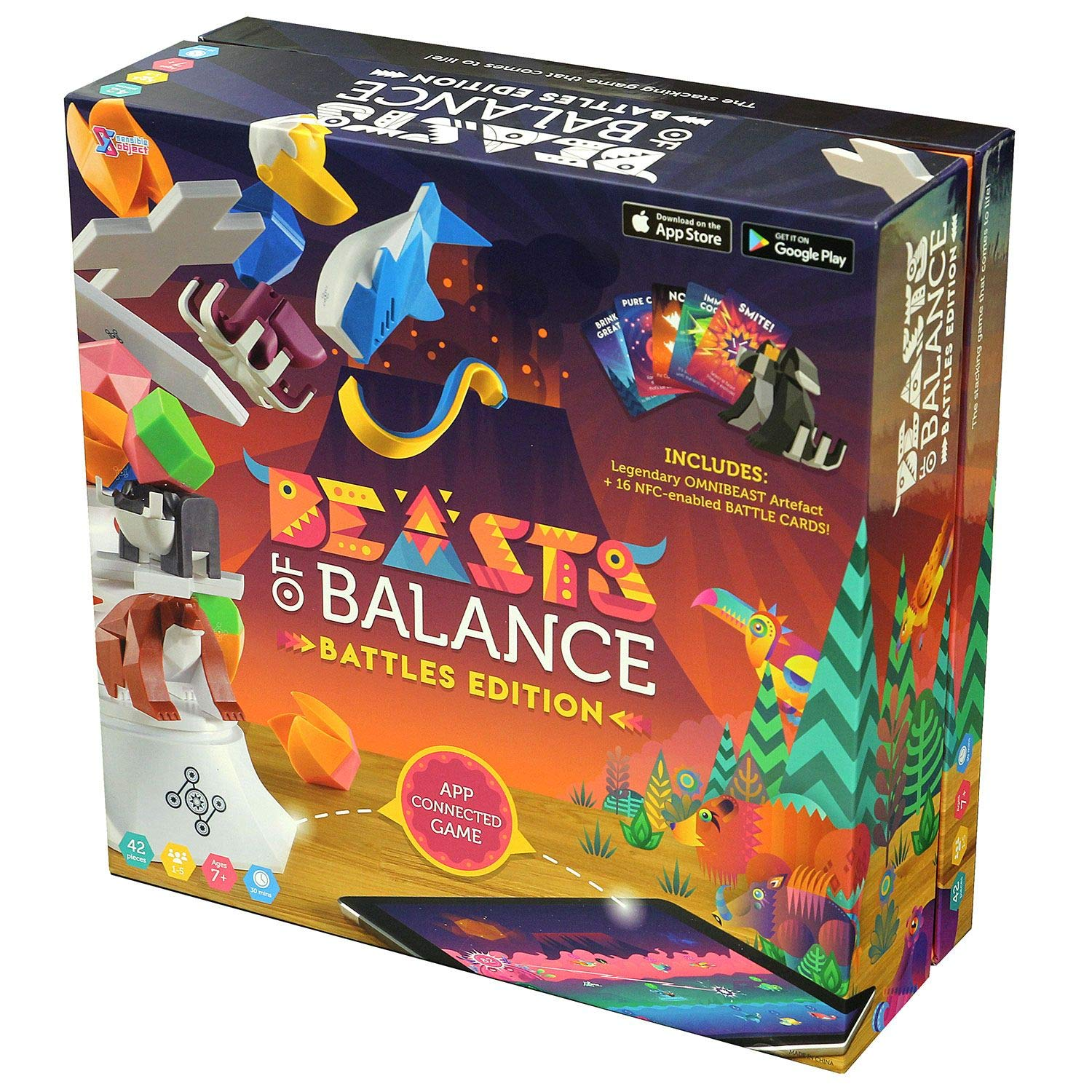 Sensible Object Beasts of Balance - Digital Tabletop Hybrid Family Stacking Game for Ages 6+