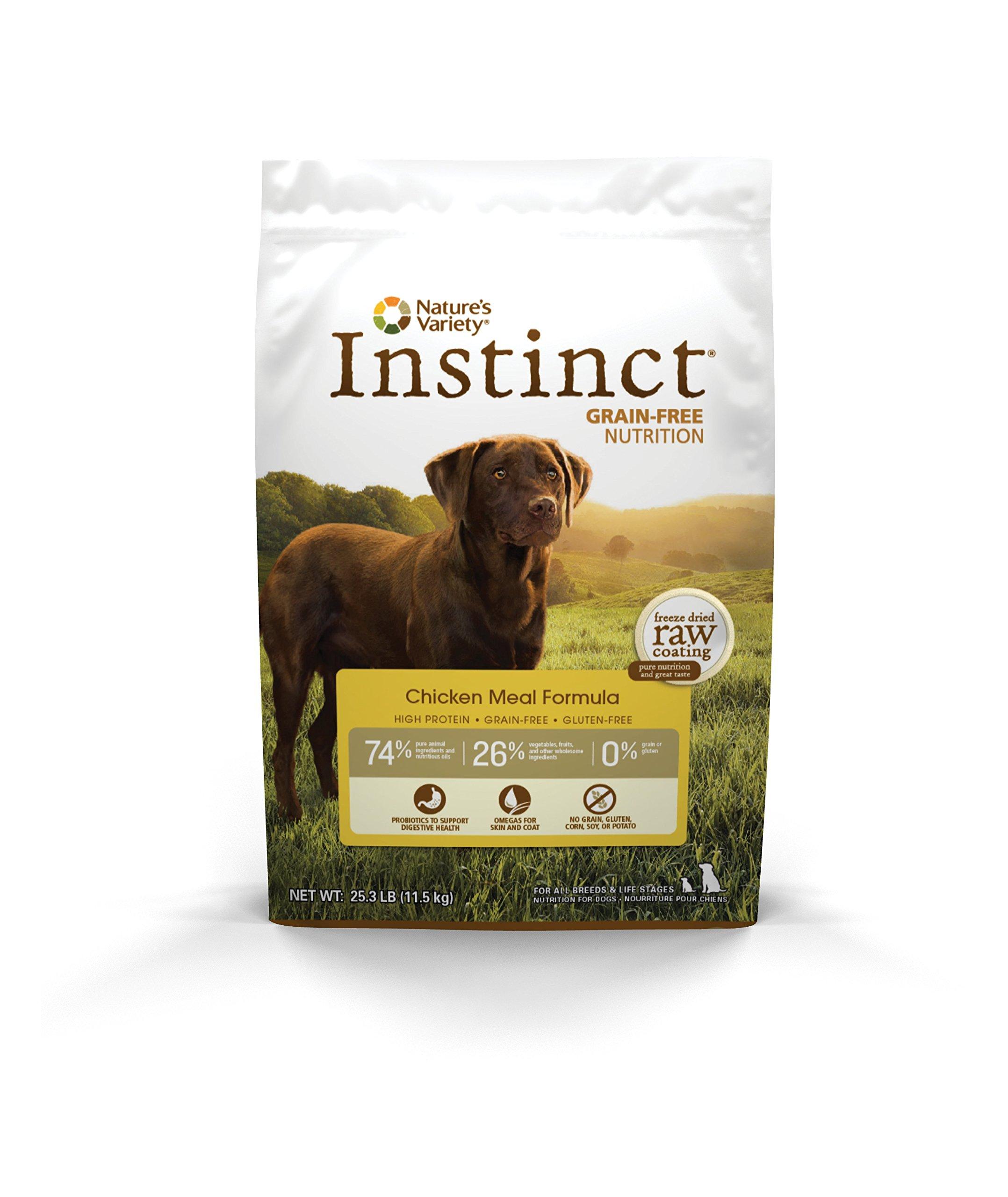 Instinct Original Grain Free Chicken Meal Formula Natural Dry Dog Food by Nature's Variety, 25.3 lb. Bag