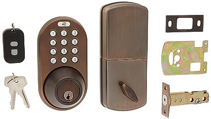 milocks xfk-02ob Digital cerrojo y cerradura para puerta paso pomo Combo con a través