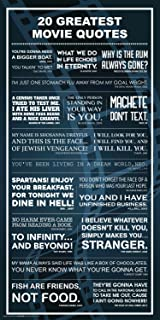 20 greatest movies great quotes classic film lines typography decorative print unframed 12x24 poster