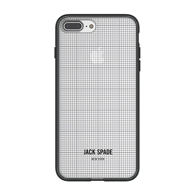 watch 5c25c 961f5 Jack Spade Printed Clear Case for iPhone 8 Plus & iPhone 7 Plus - Graph  Check/Clear
