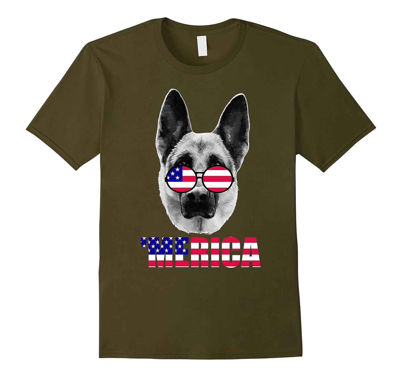 'Merica German Shepard Funny Gift T-shirt-TH