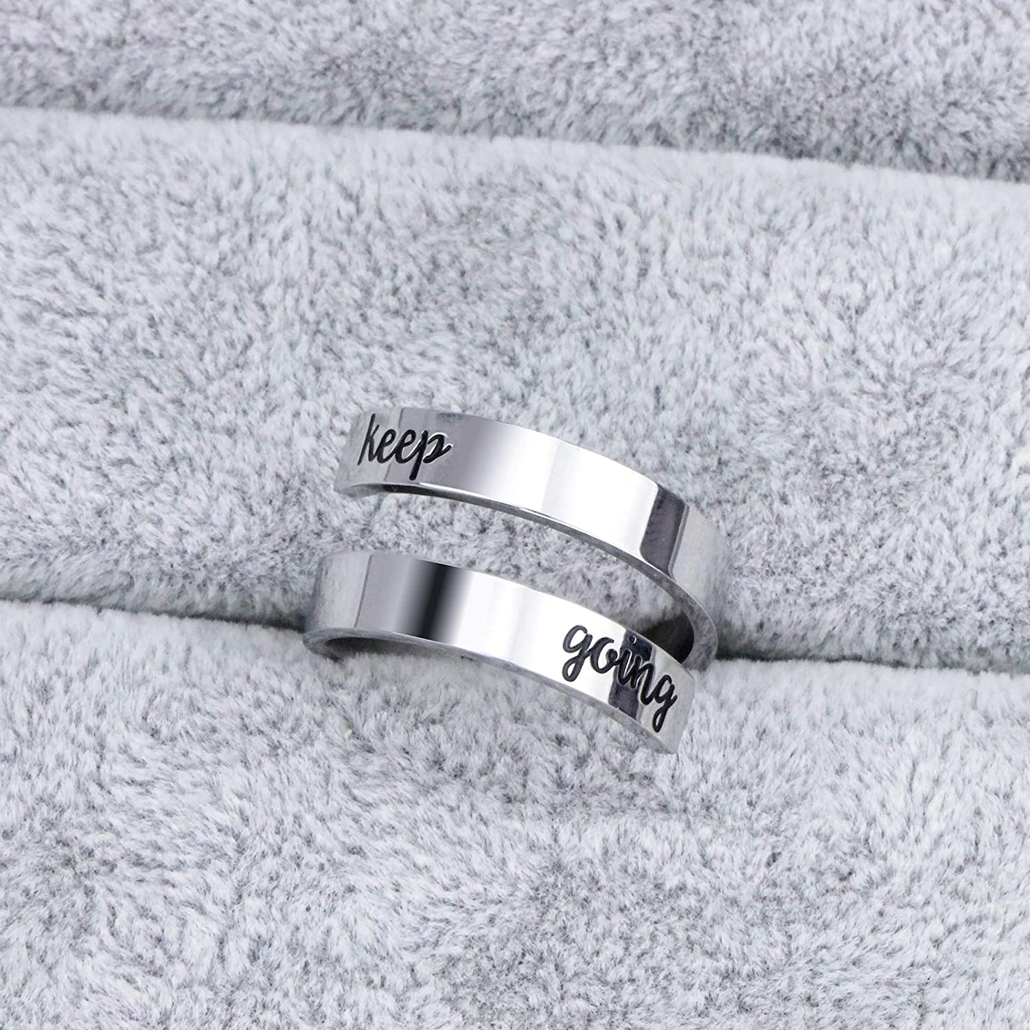 Cuff Bangle Bracelet You Are Braver than You Believe Stainless Steel Inspirational Jewelry