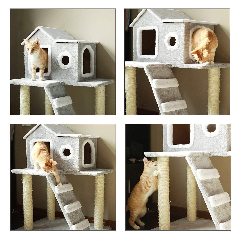 rboles para gatos CO-Z rbol para Gatos Rascador para Gatos Torre ...
