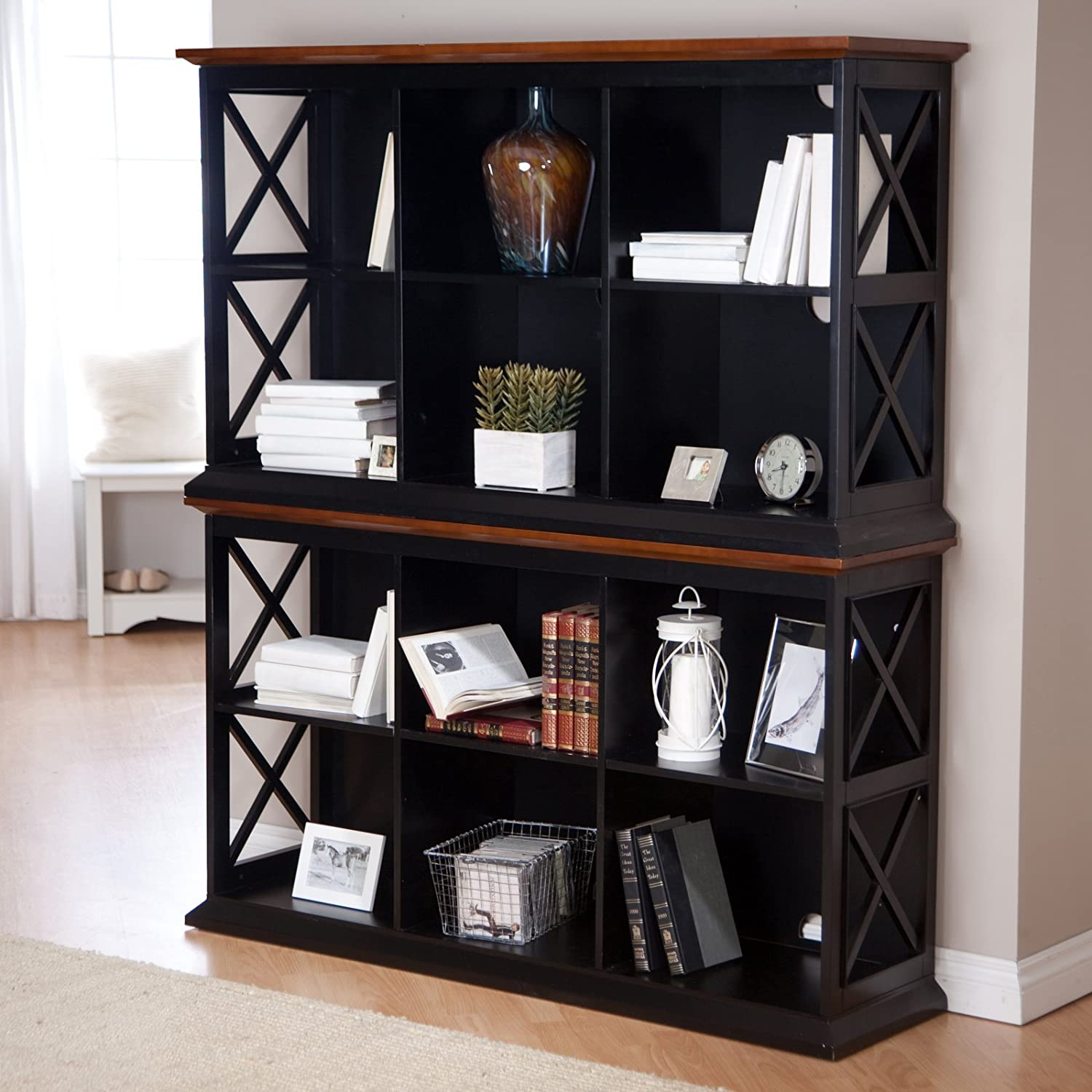 case quodes wp bookcase hexagon nendo by side bookcases pedestal table project show