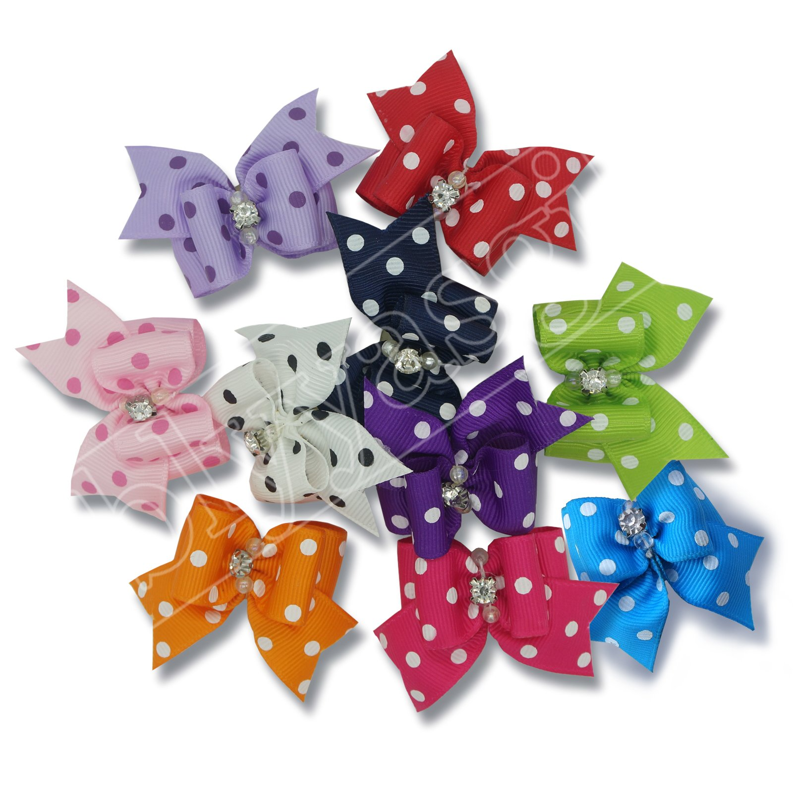 blyyasgi® Wholesale Lots Rubber Band Hair Bow Headdress Flower for Puppy Dog Pets Gift (100 pieces)
