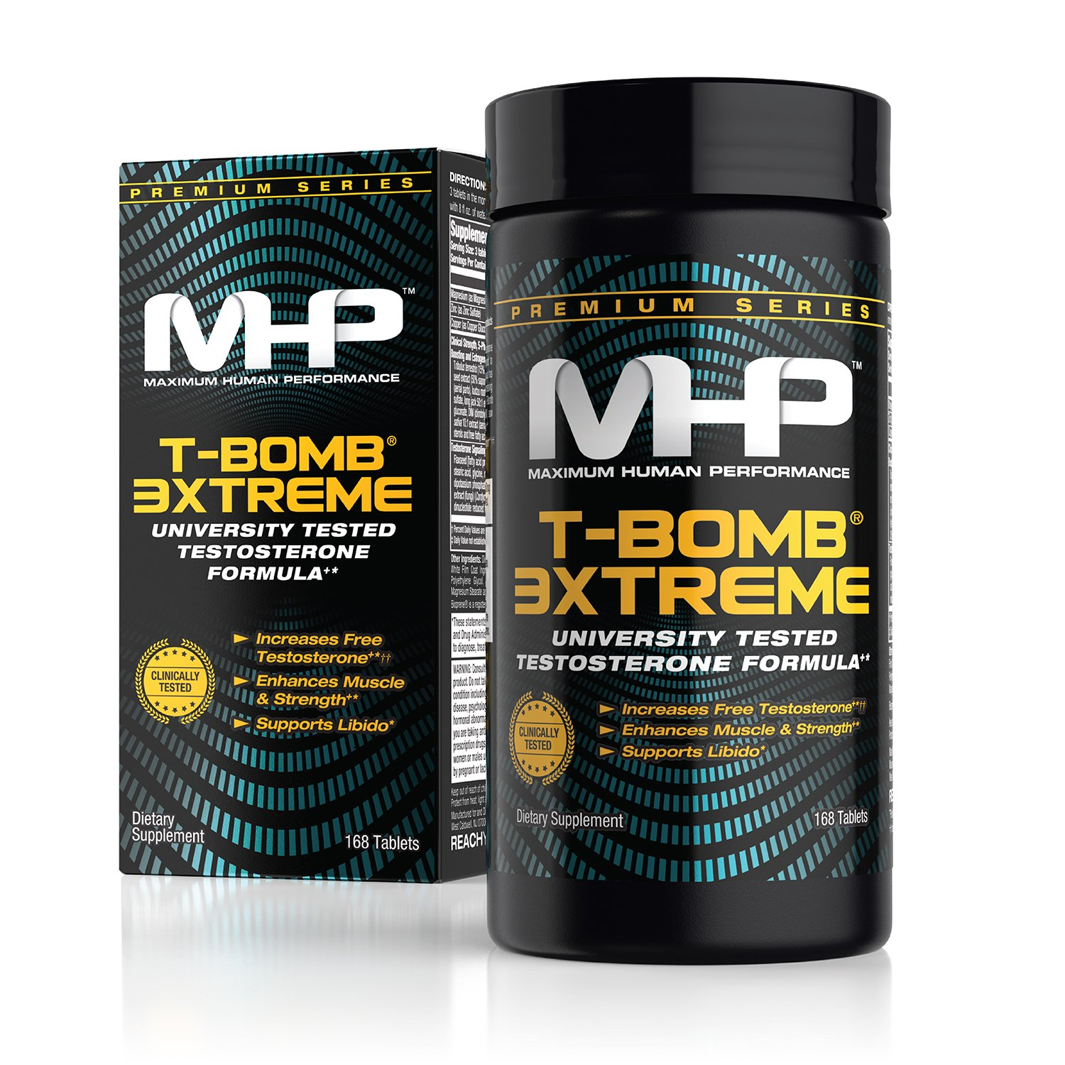 MHP Clinical Strength T-Bomb 3xtreme, Five-Phase Hormone Optimizing Complex, 168 Count (Packaging May Vary)