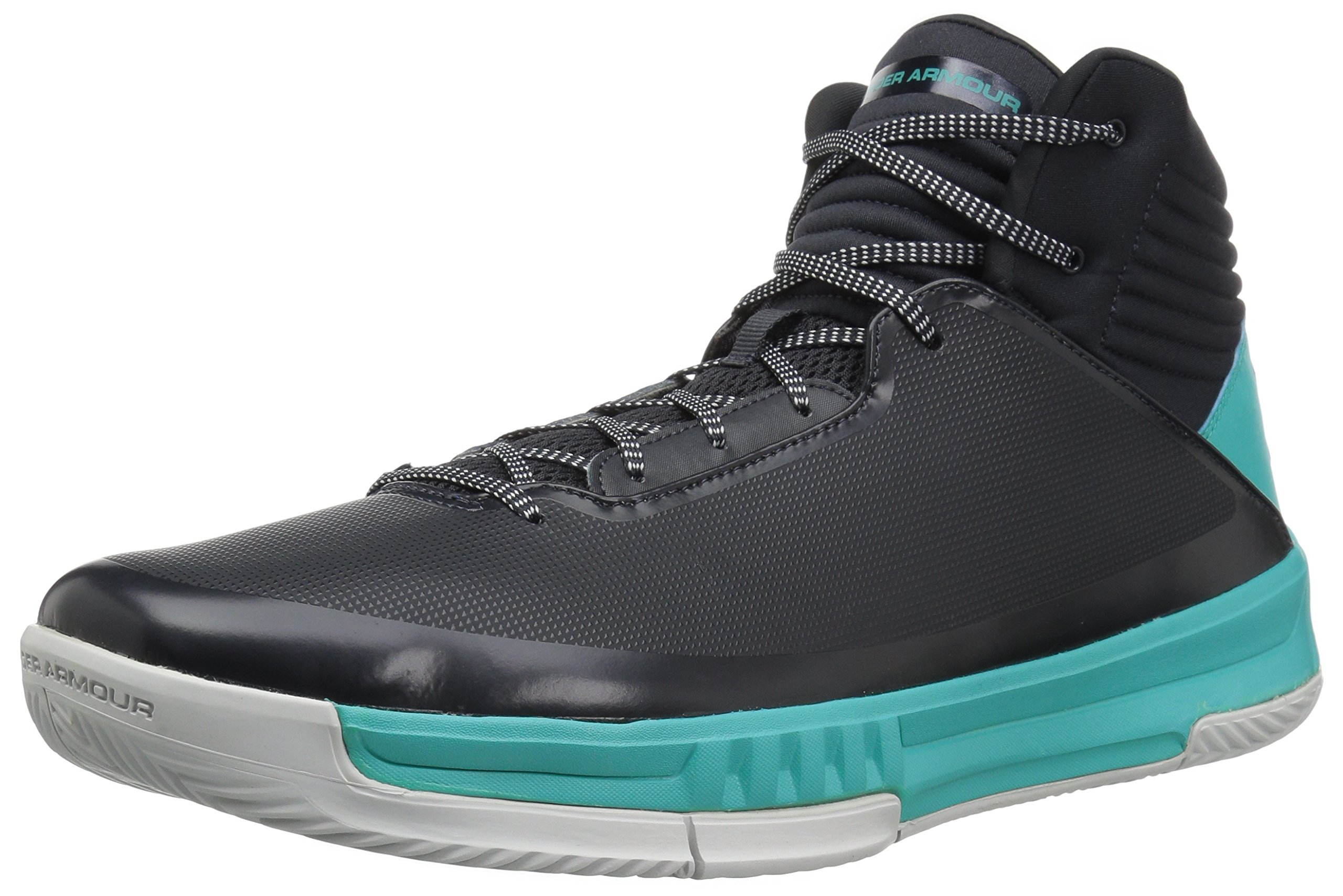 buy popular 28ad2 3ae2b Galleon - Under Armour Men s Lockdown 2 Basketball Shoe, Anthracite  (105) Teal Punch, 13
