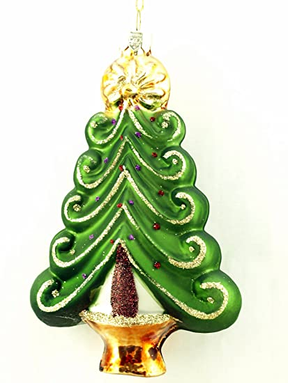 Christmas Tree-Shaped Hand-blown and Decorated Glass Ornament GIFT BOX SET  OF 4 - Amazon.com: Christmas Tree-Shaped Hand-blown And Decorated Glass