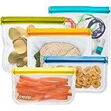 rezip 5-Piece Lay-Flat Starter Reusable Storage Bag Kit (Multi-Color)