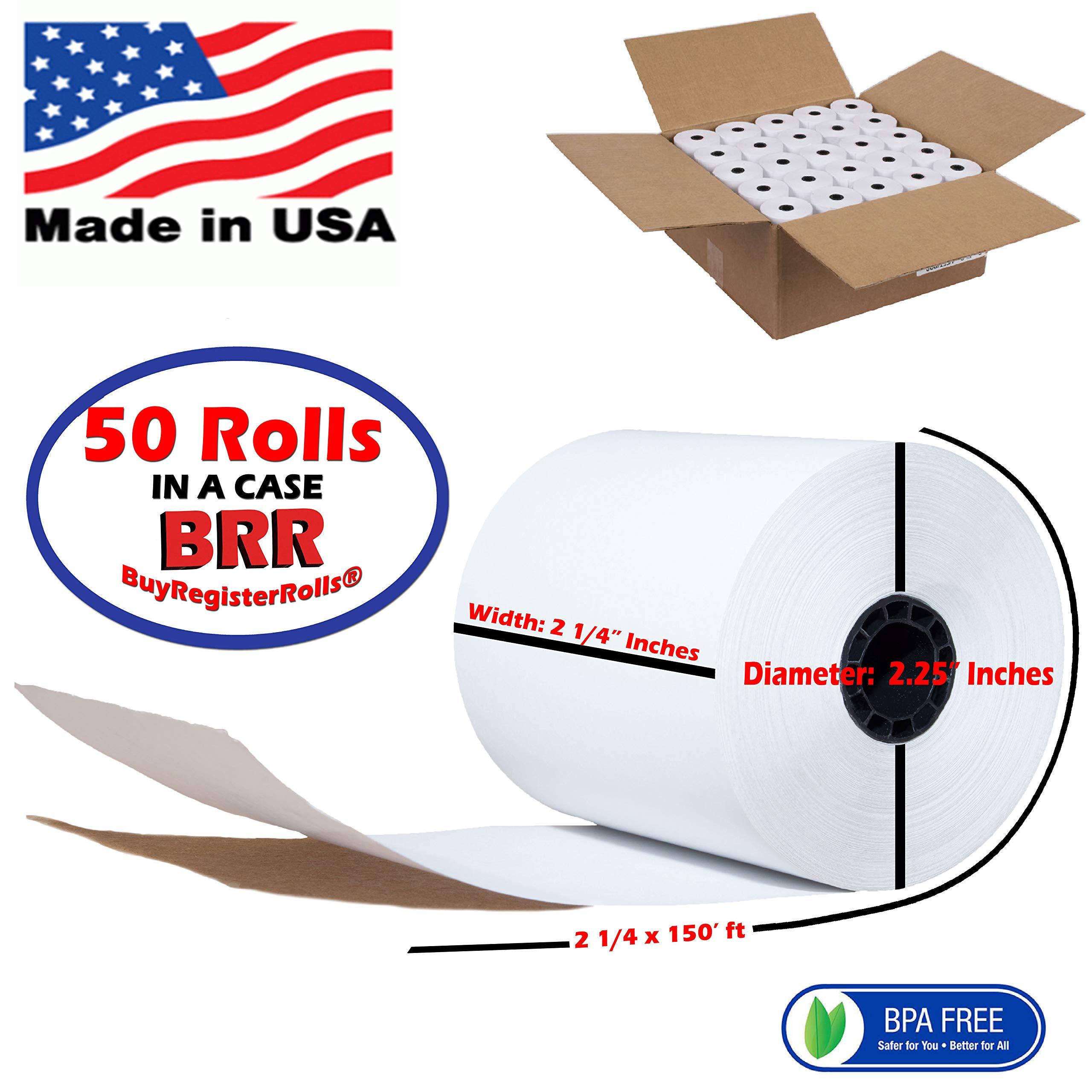 2 1/4 x 150 Thermal Paper Rolls 50 Rolls | Value Pack | Premium Quality BPA Free - Thermal Paper Rolls - from BuyRegisterRolls by BuyRegisterRolls
