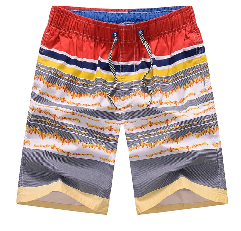 heymoneyMen heymoney Mens Beach Stretchy Waist Printing Leisure Strappy Boxers