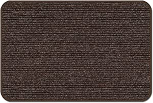 House, Home and More Skid-Resistant Heavy-Duty Door Mat - Tuscan Brown - 2 Feet X 5 Feet