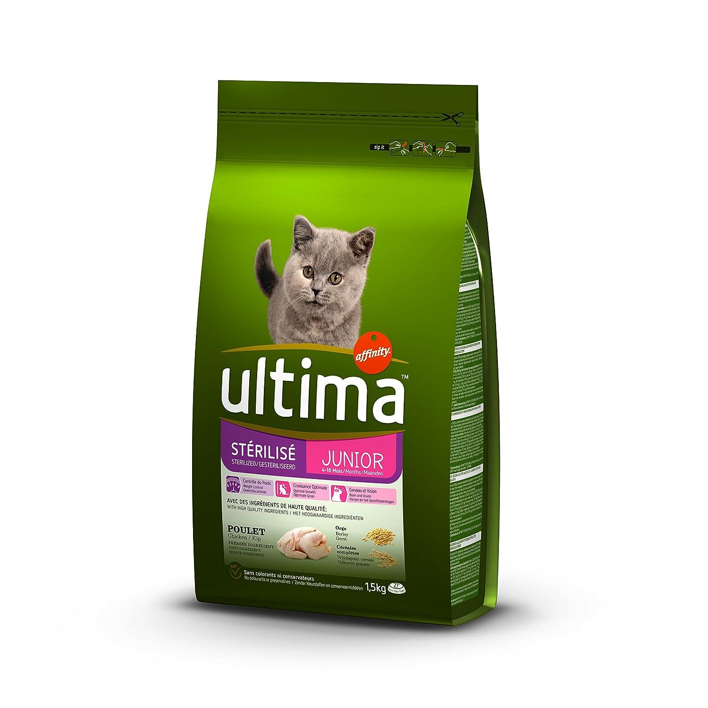 Ultima Gatos stérilisés Junior Alimentos formulé 1,5 kg - Pack de ...
