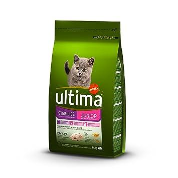 Ultima Gatos stérilisés Junior Alimentos formulé 1,5 kg - Pack de 8: Amazon.es: Productos para mascotas