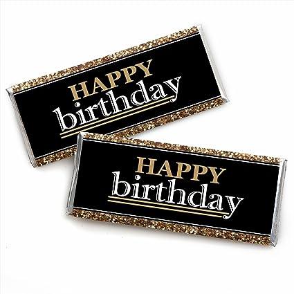 Amazon.com: Adulto Feliz cumpleaños – Oro – Candy Bar ...