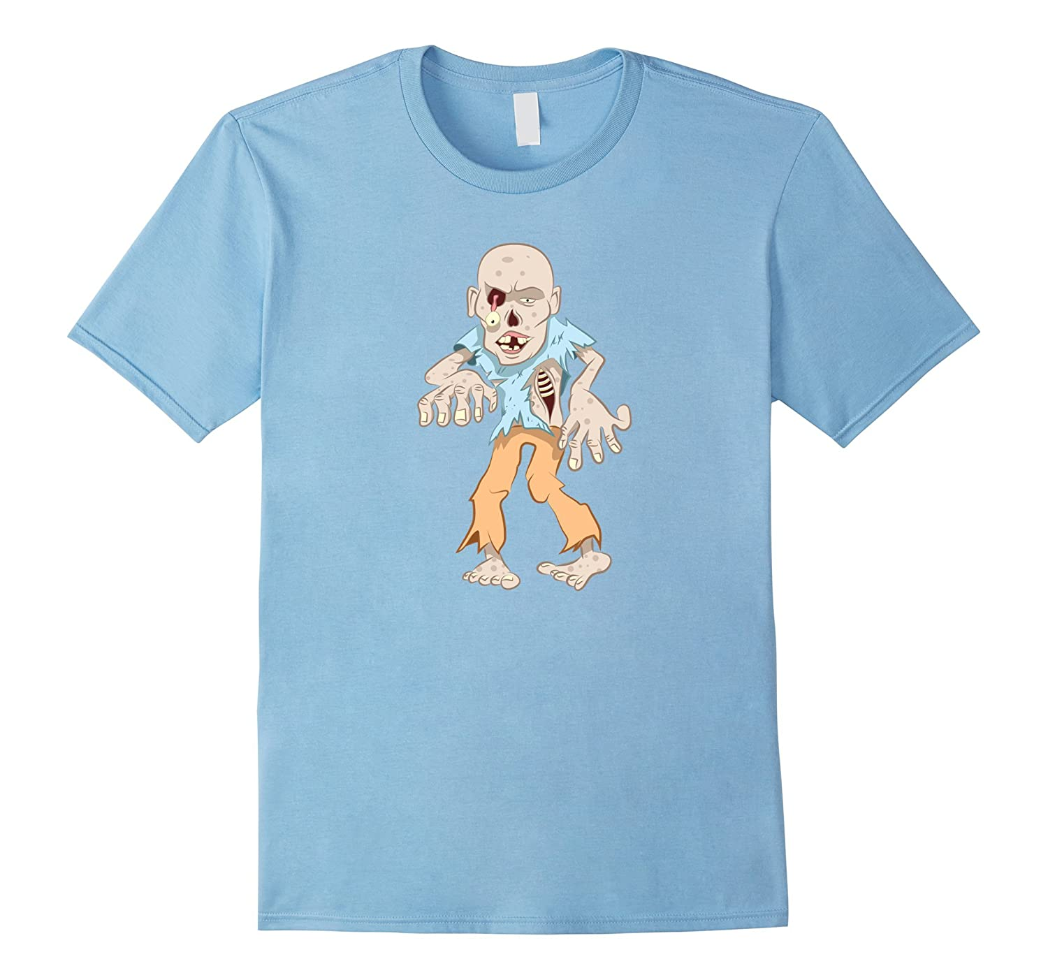 Funny Creepy Zombie Walking Attack Halloween Costume T-shirt-TH