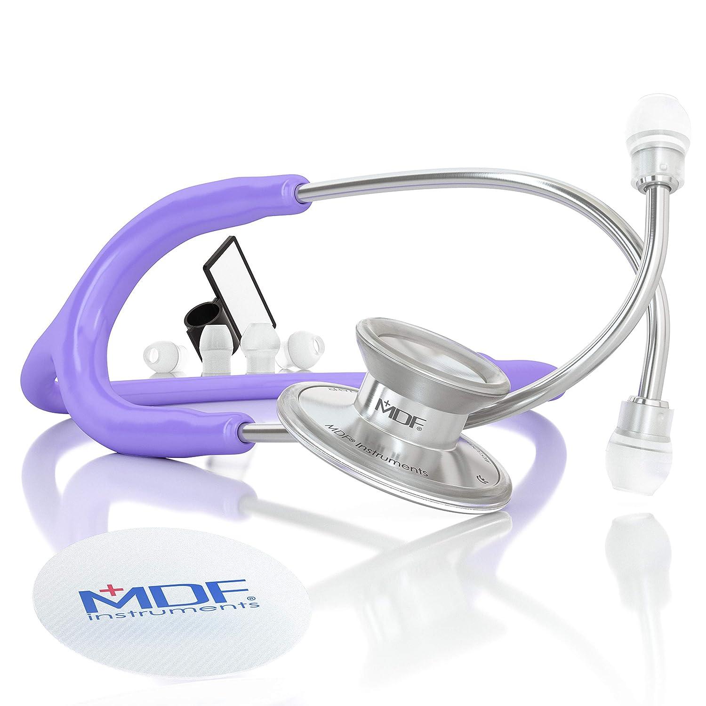 MDF Instruments Acoustica Deluxe MDF747XP07, Estetoscopio ligero de doble cabeza, Morado Pastel (Pastel Pink)