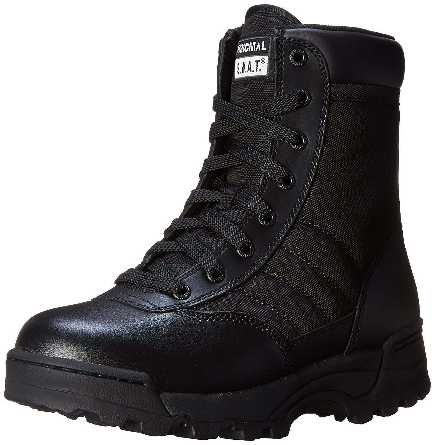 Women's Classic 9 Inch Side Zip Tactical Boot, Black, 9 B US by Original S.W.A.T.