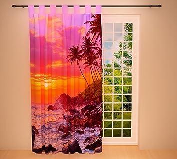 Amazon De Clever Kauf 24 Schlaufenschal Vorhang Gardine Abendrot Am