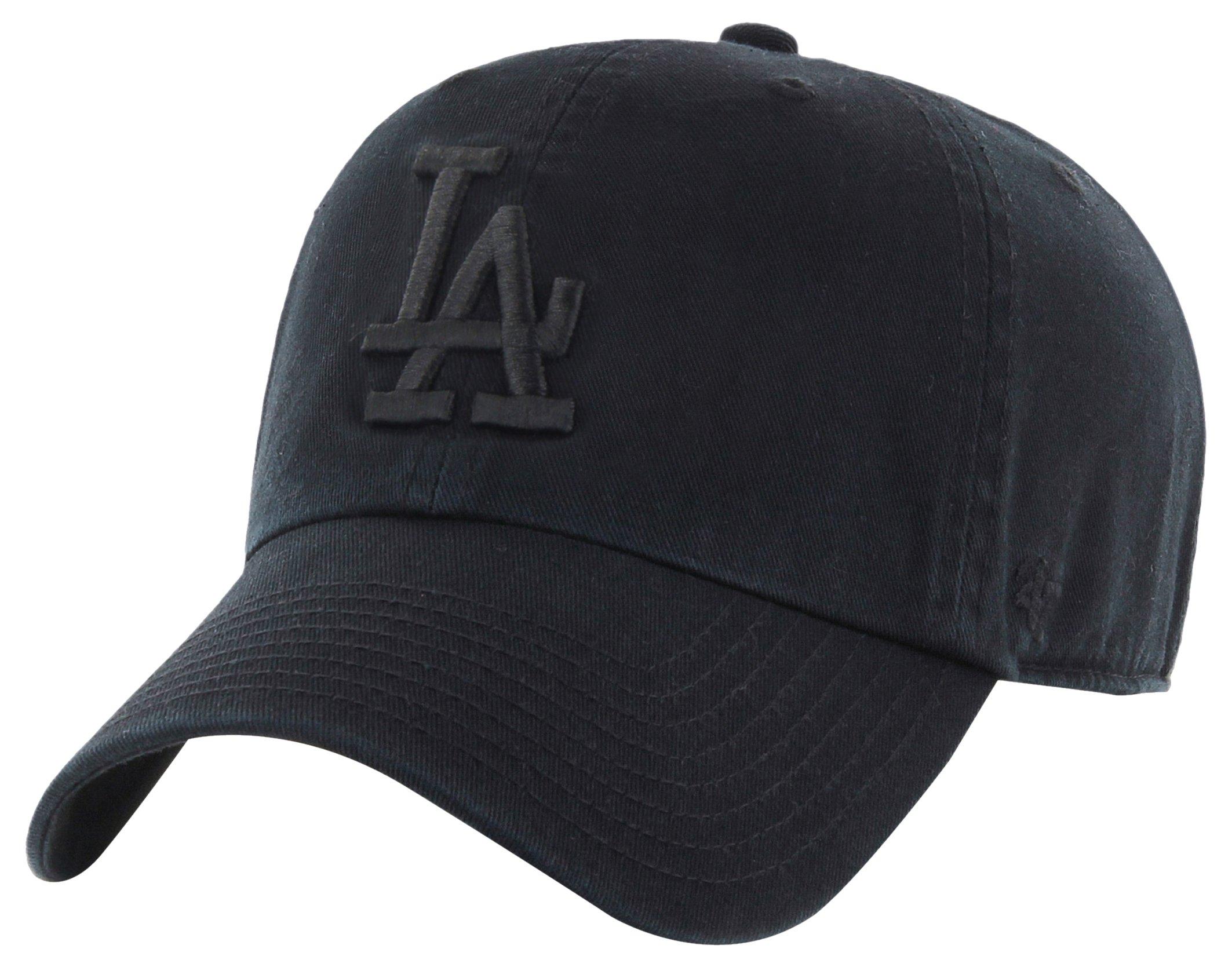 '47 Brand Los Angeles Dodgers Clean Up MLB Strapback Hat Cap All Black/Black