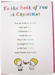 to The Both of You at Christmas, Pack of 5 - Cute Christmas Luxury Greetings Cards by Clarabelle Cards 5 x 7 inches