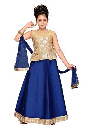 ff78f1f1afc0a Amazon.com  Adiva Girl s Indian Party Wear Lehenga Choli for Kids (G ...