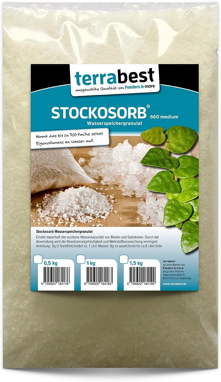 500g Wasserspeicher Granulat für Pflanzen Gräser Kokos Blumenerde