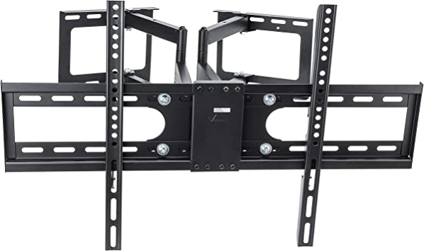 Vemount Soporte de TV de montaje en pared con inclinación y giro giratorio con brazo articulado para LCD de 30-70 pulgadas, LED, pantalla plana de plasma y pantalla Smart TV 600x400 Negro: