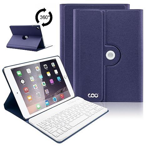 COO Funda con Teclado iPad 9.7, Cubierta con Teclado Español Bluetooth para iPad 2018,