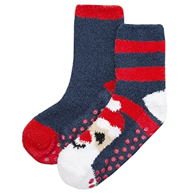 Zest Kids Cosy Gripper Festive Christmas Socks