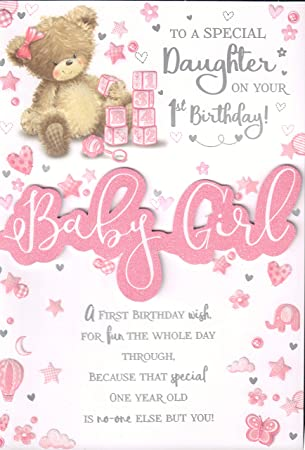 Daughters 1st Birthday Card