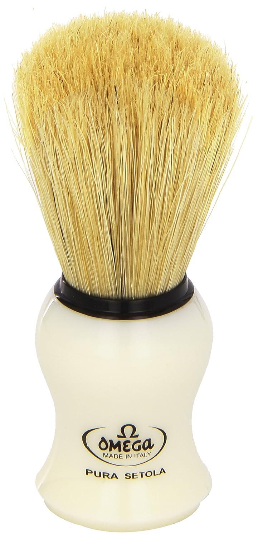 Omega #10066 Shaving Brush Mock Ivory Handle