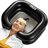 GADS Inflatable Shampoo Basin - Portable Shampoo Bowl, Hair Washing Basin for Bedridden, Elderly, Disabled, Handicapped and I