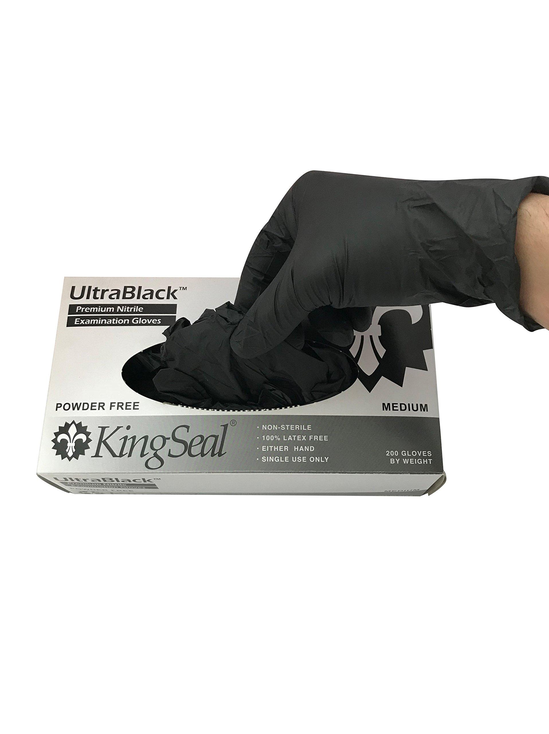KingSeal UltraBlack Black Nitrile Medical Grade
