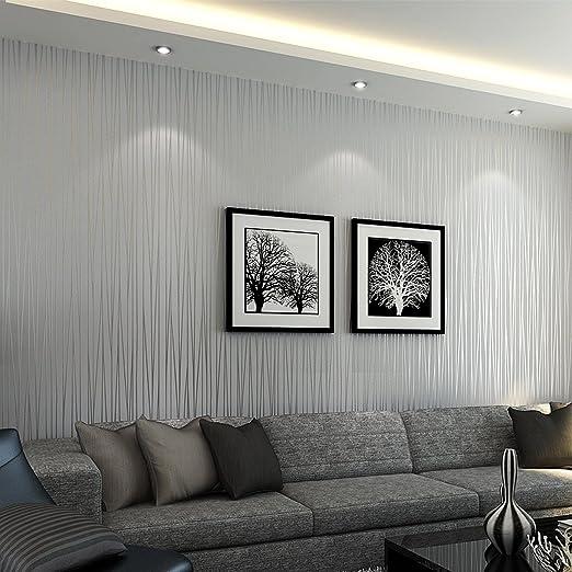 Mavee Non-Woven 3D Wallpaper, Print Embossed, Modern Stripe
