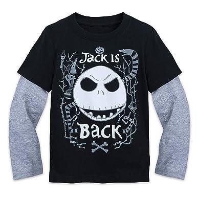Amazon.com: Disney Jack Skellington ''Jack is Back'' Shirt Kids ...