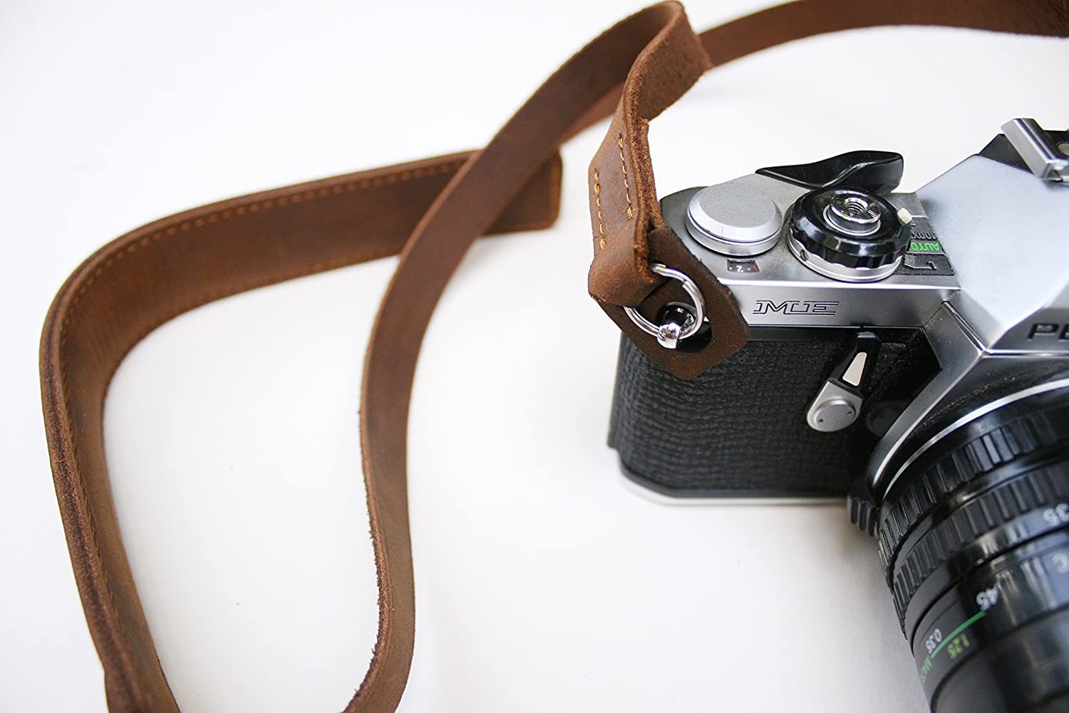 Leather camera strap for DSLR and Mirrorless