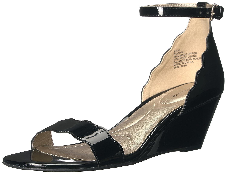 Opali Wedge Sandal, Black Synthetic