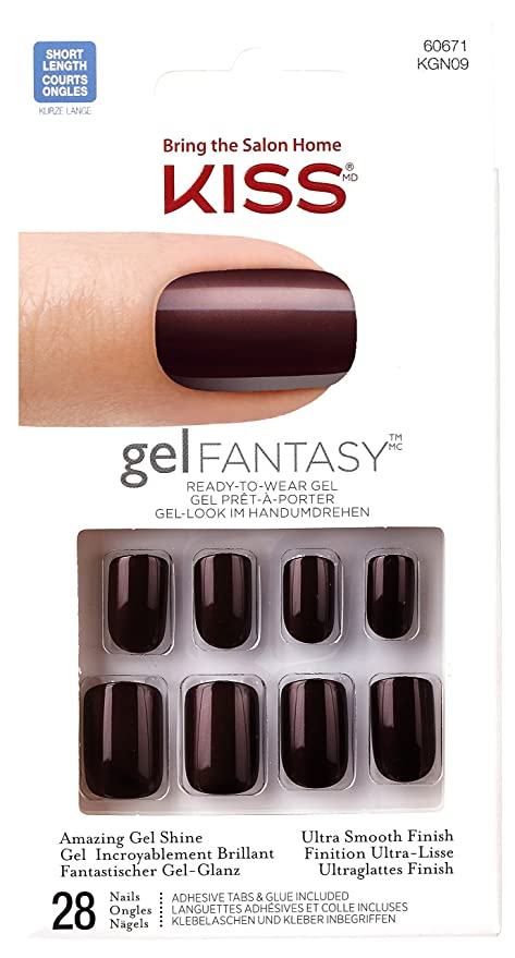 Kiss - Gel Fantasy - KGN09C - Set de 28 uñas esculpidas y coloreadas