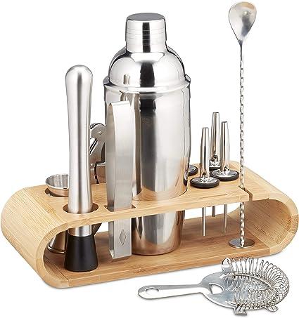 ristorante o casa Set da 11 pezzi Set da bar in acciaio inossidabile per miscelatore per shaker per cocktail Barista Martini Kit bar per bar