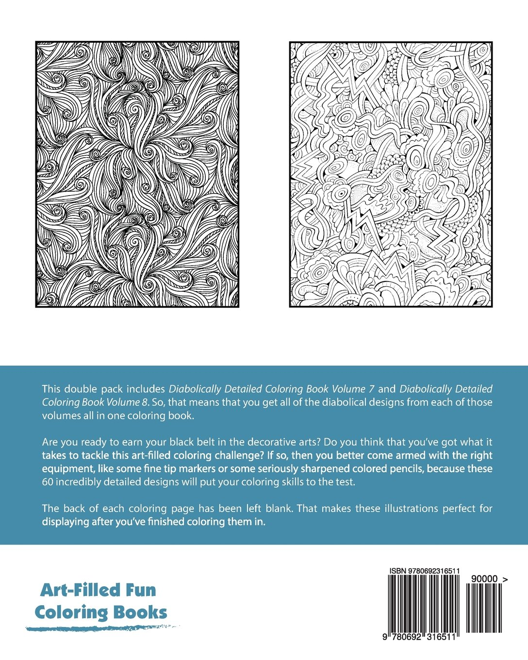 Diabolically Detailed Coloring Book Double Pack (Volumes 7 & 8) (Art ...