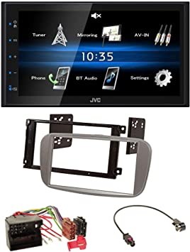 JVC aux 2din USB mp3 Bluetooth autoradio para Ford S-Max a partir de 2007 Mondeo negro
