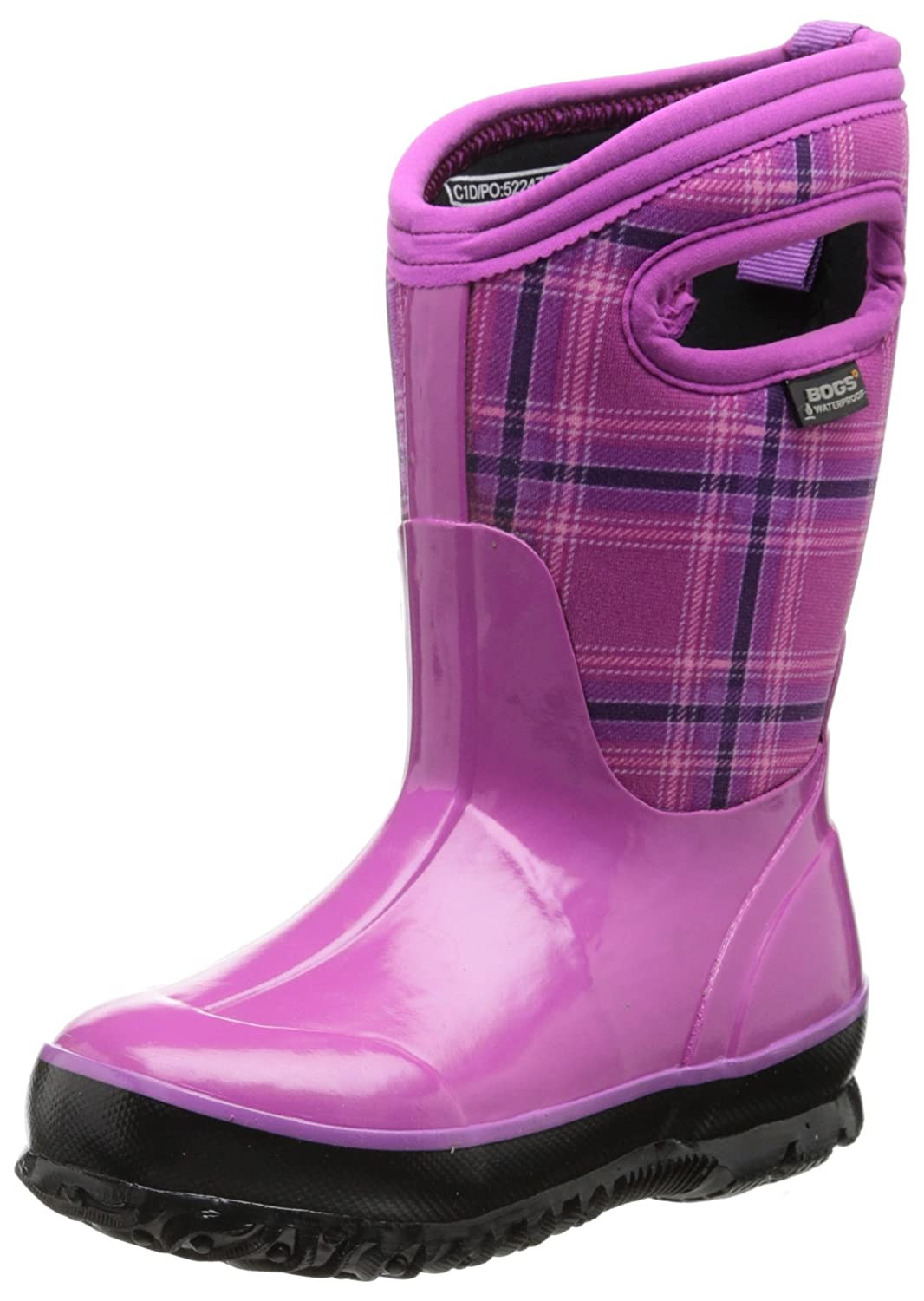 a5b85a8ac Bogs Kids' Classic High Waterproof Insulated Rubber Neoprene Rain Boot,  Multiple Color Options