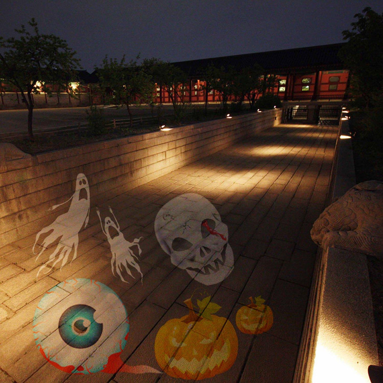 Gosear Exterior Impermeable LED Giratorio proyector Escenario luz ...