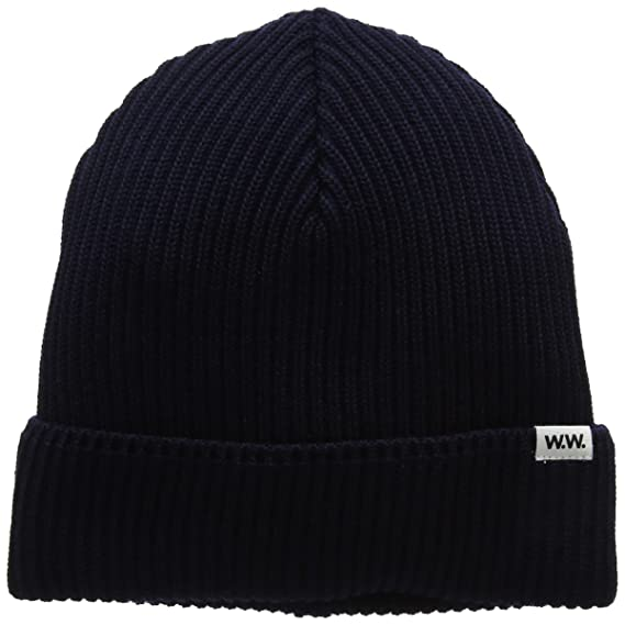 ad85061c2 Wood Wood Men's Henry Ribbed Beanie Blue (Navy), One Size: Amazon.co ...