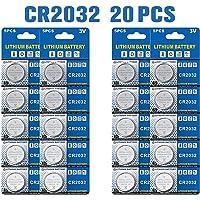 Batería de Litio CR2032 3V, botón electrónico de la célula de la Moneda para los Relojes de Las calculadoras de los…