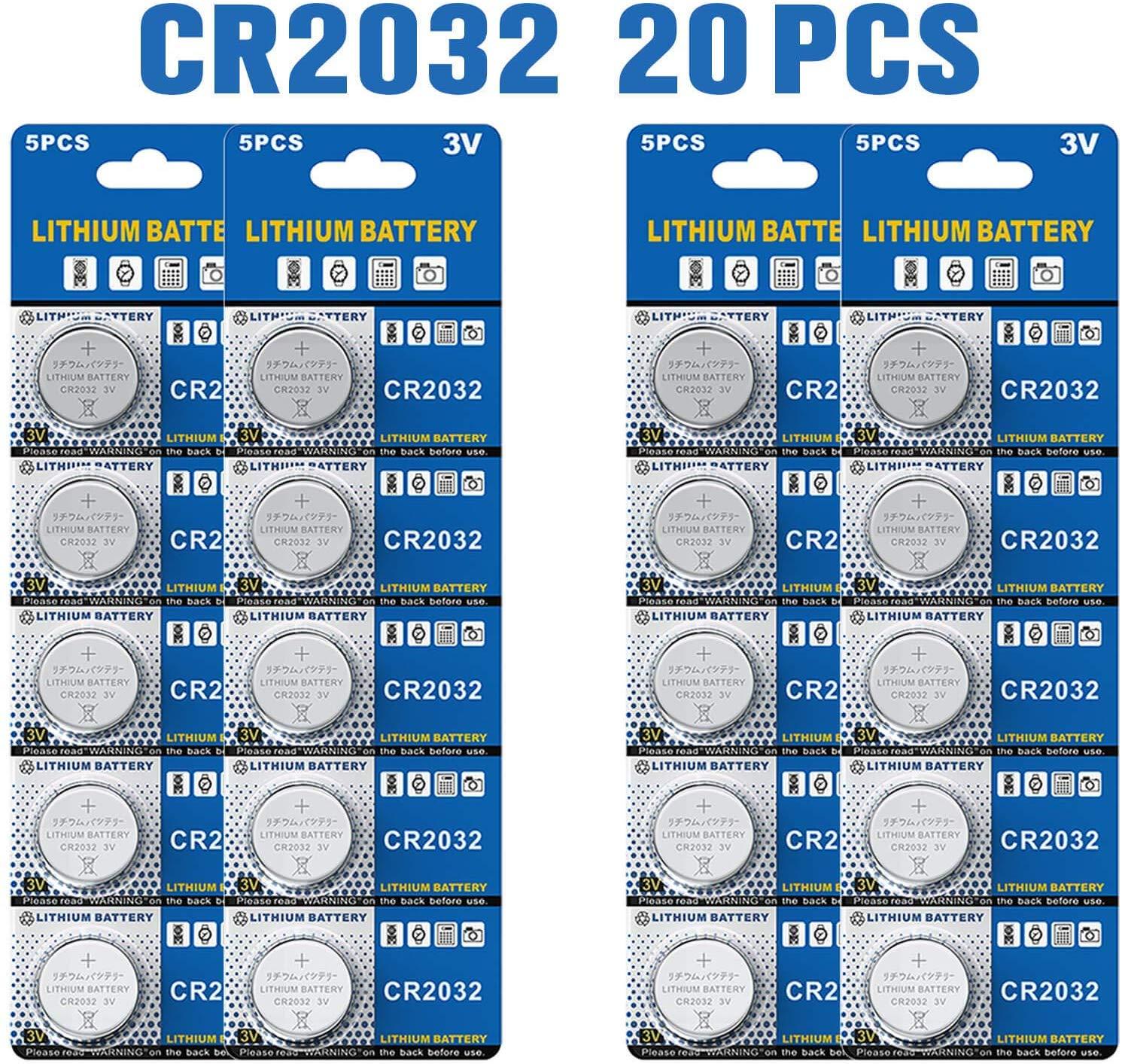 Batería de Litio CR2032 3V, botón electrónico de la célula de la ...