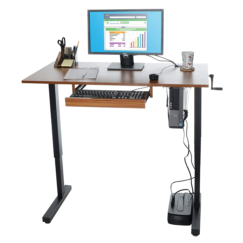 Outstanding Milliard Height Adjustable Standing Desk 48 X 24In Desktop Interior Design Ideas Skatsoteloinfo