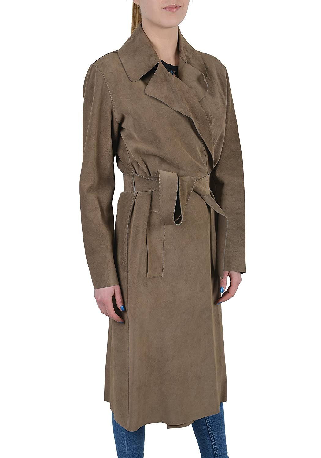 afe1e8833 Amazon.com: Gucci Leather Brown Belted Women's Coat US S IT 40: Clothing